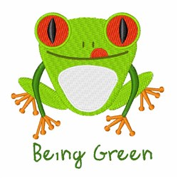 Being Green embroidery design