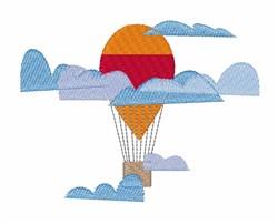 Hot Air Balloon embroidery design