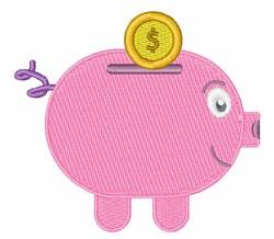 Piggy Bank embroidery design