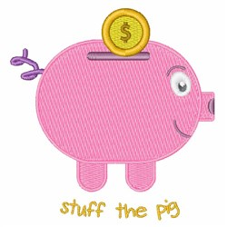 Stuff The Pig embroidery design