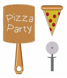 Pizza Party embroidery design