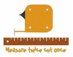 Measure Twice embroidery design