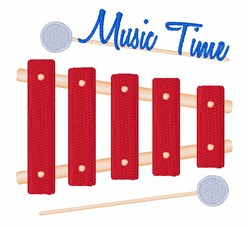 Music Time embroidery design