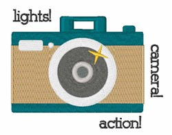 Lights Camera Action embroidery design