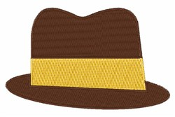 Fedora Hat embroidery design