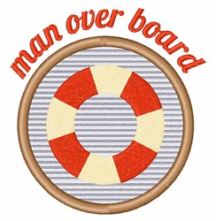Man Over Board embroidery design