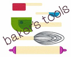 Bakers Tools embroidery design