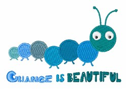 Change Is Beautiful embroidery design