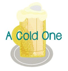 Cold One embroidery design