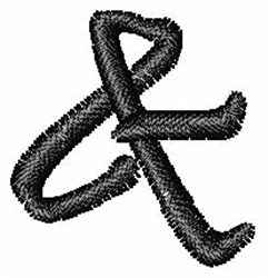 Pristina Font Ampersand embroidery design