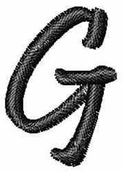 Pristina Font G embroidery design