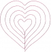 Hearts Outlines embroidery design