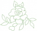 Rose Outline embroidery design