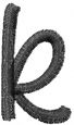 Freehand Font Lowercase k embroidery design