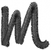 Freehand Font Lowercase m embroidery design