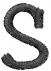 Freehand Font Lowercase s embroidery design