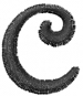 Dynasty Font Lowercase c embroidery design