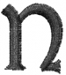 Dynasty Font Lowercase n embroidery design