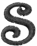 Dynasty Font Lowercase s embroidery design