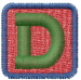 Baby Blocks Font D embroidery design