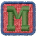 Baby Blocks Font M embroidery design