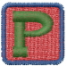 Baby Blocks Font P embroidery design