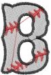 Baseball Letter B embroidery design