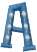 Dot Letter A embroidery design