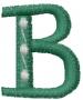Dot Letter B embroidery design