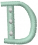 Dot Letter D embroidery design