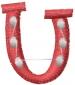 Dot Letter U embroidery design