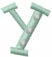 Dot Letter Y embroidery design