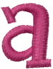 Dot Lowercase a embroidery design