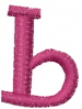 Dot Lowercase b embroidery design
