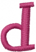 Dot Lowercase d embroidery design