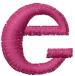 Dot Lowercase e embroidery design