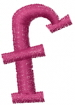 Dot Lowercase f embroidery design