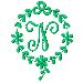 Monogram N embroidery design
