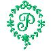 Monogram P embroidery design