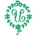 Monogram U embroidery design