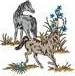 Horses Grazing embroidery design