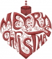 Christmas Heart Ornament embroidery design