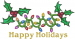 Holly Christmas Lights embroidery design