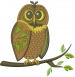 Owl Is Watching embroidery design