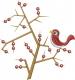 Bird Tree_ embroidery design