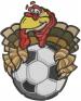 Soccer Turkey embroidery design
