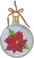 Christmas Poinsettia Ornament embroidery design
