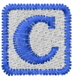Baby Block C embroidery design