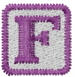 Baby Block F embroidery design