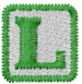 Baby Block L embroidery design